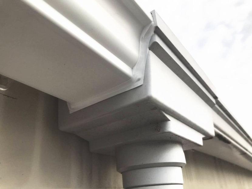 集水器脇からの 雨垂れ防止修理完了